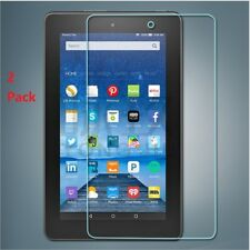 2 x Scratch Proof Tempered Glass Protector For Amazon Kindle Fire HD 8 2017