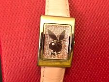 VINTAGE-PLAYBOY WATCH REAL LEATHER STRAP ALL ORIGINAL