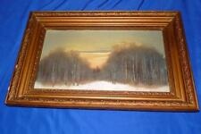 """Russian Oil on canvas Painting signed framed 19x12"""""""