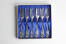 Hildesheimer Rose Kuchengabeln 100er Silberauflage Versilbert 6 Gabeln Antiko