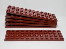 LEGO LEGOS -  Set of  6  NEW  4 x 12 Plates  REDDISH BROWN    Star Wars