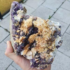 Großstufe Fluorit & Baryt aus Berbes, Spanien