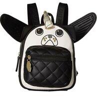 Luv Betsey Johnson Backpack Handbags  pugz Mini Black/WHITE Travel LBRuby