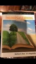 An Introduction to Theories of Learning : Ninth Edition by Matthew H. Olson...