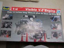 Revell Visible V-8 Engine 1/4 Scale Model Kit - New Open box