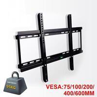"Ultra Slim TV Mount Wall Bracket Flat Fixed LCD LED PLASMA For 30""-70"" Panel UK"