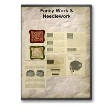Fancy Work & Needlework 16 Instructional Fancywork Historic Books on CD D477