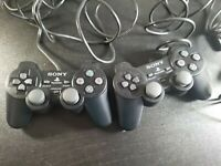 Lot Of 2 - SONY PS2  CONTROLLER SCPH-10010 Dual Shock OEM Tested