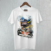 T-Shirt Maglietta James Hunt F1 Legends Driver Tribute World Champion Fine Art