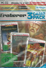 Pc dvd-rom + 3 Game Pack + conquérant + stratégie + Aventures + ACTION + Win 8