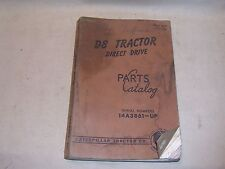 CAT Caterpillar D8 Tractor Direct Drive Dozer Crawler Parts Manual Catalog