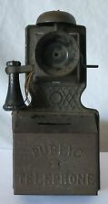 Antique PUBLIC TELEPHONE Wall Hanging Novelty Bank