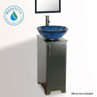 "Eclife 14"" Bathroom Vanity Cabinet Top Vessel Sink Faucet W/ Drain Combo Modern"