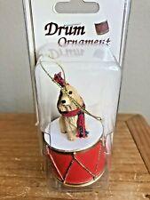 English Cocker Spaniel Ornament Drum Blonde Dog Christmas Ornament New Gift