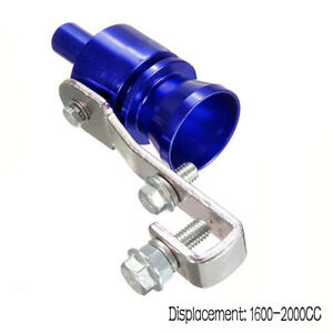 Blue Car Turbo Sound Muffler Exhaust Pipe Vale Simulator Whistle Eyeable Size M