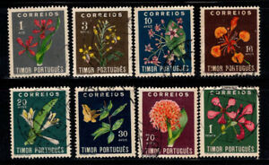 Timor 1950 Mi. 283-290 Used 100% flowers, flora