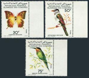 Comoro Isls 426-428,MNH.Michel 520-522. Fauna 1979.Butterfly,Birds