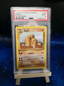 Pokémon Karte / Digdri 1.Edition / PSA 9 / Base-Set / Deutsch
