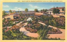 San Diego,California~Inner Court Of Ramonas Marriage Place~Old Town Postcard