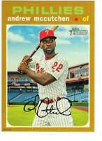 Andrew McCutchen 2020 Topps Heritage 5x7 Gold #456 /10 Phillies