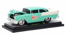 """1957 CHEVROLET 150 """"HOLLEY"""" GREEN AND WHITE 1/24 DIECAST CAR BY M2 40300-62 B"""
