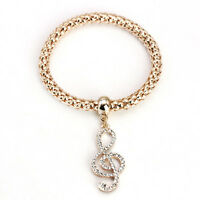 3PCS Women Lady Crystal Rhinestone Cuff Bangle Charm Leaf Bracelet Jewelry Gift