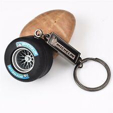 Auto Parts Auto Michelin Rubber Tyre keychain Creative key chain Black Key Ring
