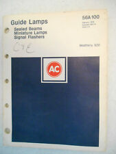 Vintage 75 AC Guide Lamps Lamp Bulb Sealed Beams Flasher Catalog Book 56A-100