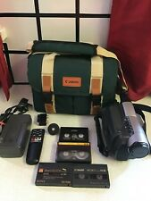 Canon UC-V10Hi - Hi8/8mm Video Camera Camcorder with Case, Charger AND REMOTE