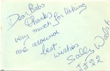 Sally Walsh signed autograph book page 1960s Hazel Court's daughter Frankenstein
