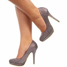 NEW LADIES WOMENS STILETTO HIGH HEEL COURT SHOES SIZE 3 4 5 6 7 8