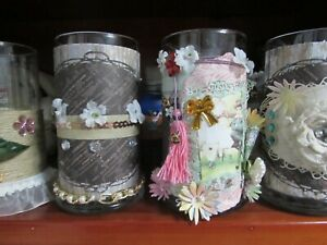 16 oz. Decorated Jar Handmade Scented Candle A-B
