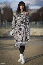 New Rare CELINE Black/White Knitted Geometric coat/jacket FR 38,US 6-8,UK 10,S-M