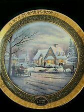 Thomas Kinkade's 2002 Memories of Christmas / Bradford Collectors Plate