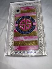 Simply Southern Shaky Glitter Logo Case iPhone XR New in Package