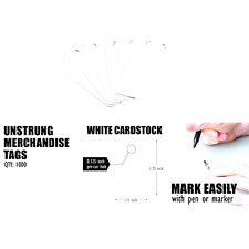 Amram Marking Tags Unstrung Scalloped 175 In X 11 In White 1000 Tags