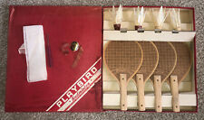 Playbird Badminton Set by Bersin Playthings NY Rackets Feather Shuttle Cocks vtg