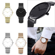 Luxury Women Men Stainless Steel Band Quartz Watch Analog Casual Wrist Watches