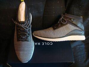 Cole Haan Grand Motion Mid Cut Men Shoes / Sneakers  Grey / Quiet Shade 10.0 NIB