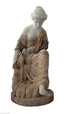 Skulptur weißer Marmor e Onyx Gelb Classic Antiquitäten Onyx & Marmor Skulptur