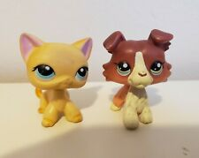 Lps Littlest Pet Shop Rare Used Collie and Cat