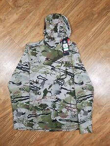 Under Armour Threadborne Early Season Barren Camo Hoodie Hunting Size Large L