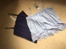 BNWT - 2 X URBANE Ladies 100% Cotton Spaghetti Strap Summer Top - Size 14