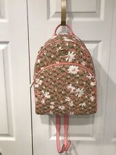 MICHAEL KORS  AUTHENTIC ABBEY LARGE  BACKPACK  PEACH  FLORAL   NWT $ 348