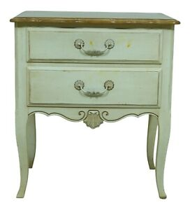 F53074EC: ETHAN ALLEN Country French Painted Nightstand