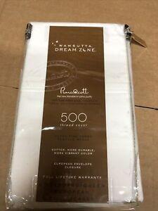 Wamsutta Dream Zone 2pc White Queen Pillowcases 500 Thread Count Brand New