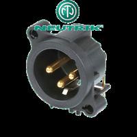 Fiche XLR Chassis 3 Broches Mâle Neutrik Norme D Connections à Souder NC3MAAH