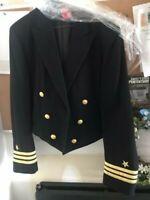 USN US Navy Commander Military Dress Coat Uniform Navy Blue WOOL Jacket