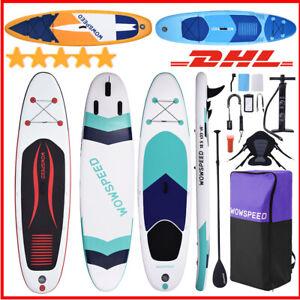 320CM SUP Board Stand Up Paddle Surfboard aufblasbar +Paddel Surfbrett Paddling