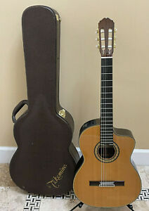 Takamine TH5C Hirade Classical Acoustic Electric Guitar w/ Hardshell Case
